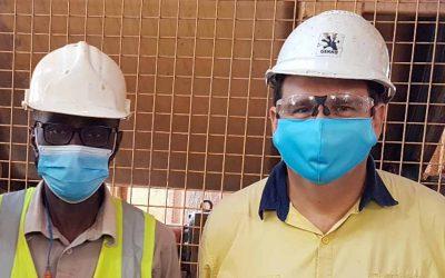 Succesful COVID-SAFE service visit at Siguiri Gold Mine